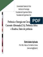 Aula Ciruitos em Corrente Alternada - Prof Marcus Gomes.pdf