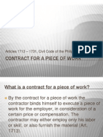 Contract for a Piece of Work