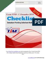 Checklist Exam PTD 2014