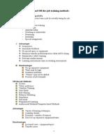 T & D Training Methods Chapter