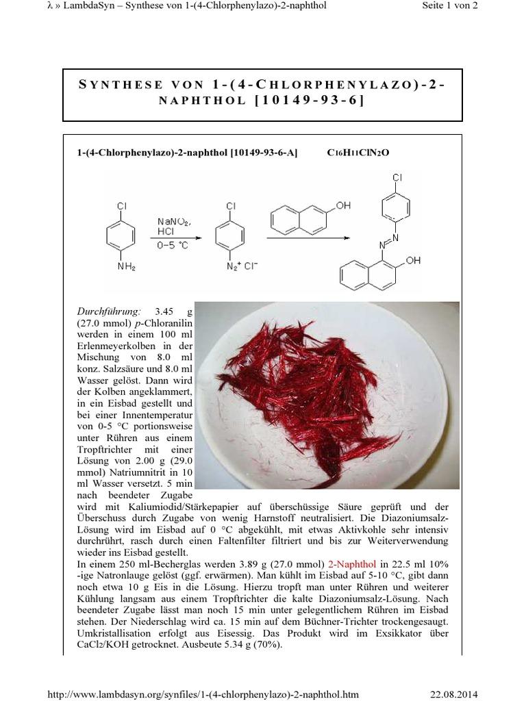 PDF-Synthesensammlung-Provisorium pdf | Hydrochloric Acid | Sulfuric