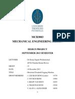 Design of Motorized Treadmill Jogging Machine