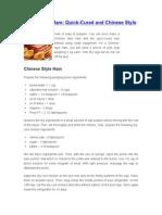 Chinese Ham Recipe