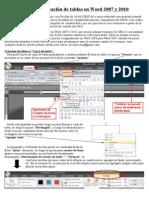 Manual de creacion de tablas en Word 2007
