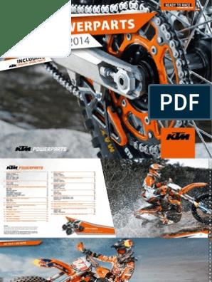 KTM 2K Griffe orange//schwarz geschlossen KTM EXC-E 300 2T EXC-F 250 4T