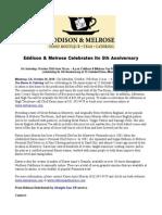 Eddison & Melrose Celebrates Its 5th Anniversary