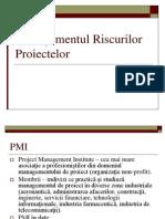 Managementul Riscurilor Proiectelor - PMIs PMBOK