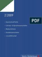 Martin Meidenbauer Verlag Verlagsprogramm 02/2009