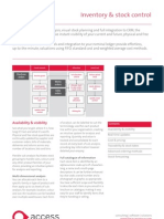 2009 The Access Group Inventory and Stock Control Factsheet