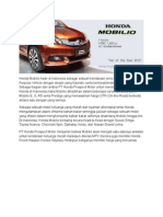 Harga Honda Mobilio Jakarta Depok Tangerang Bekasi