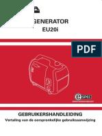Handleiding en Instructieboekje Honda EU20i Aggregaat - Nederlands