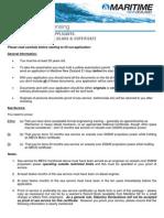 Marine Engineer MEC4 Certificate MNZ Guideline