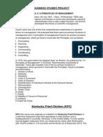 Kfc-Fayol's Principles