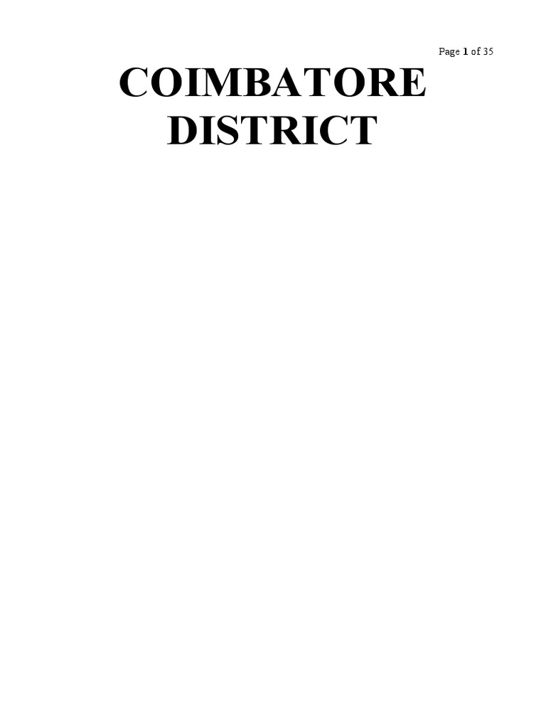 Coimbatore District Maps