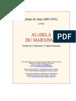 Henri de Man - Au-delà du marxisme.