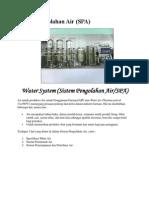Sistem Pengolahan Air Dan Udara