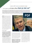 De aanpak van Premier Leterme in 2010