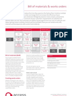 2009 The Access Group Bill of Materials and Works Orders Factsheet