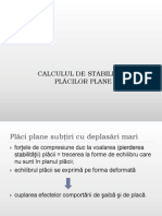 Stabilitate Placi Plane