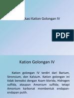 Kation Golongan IV