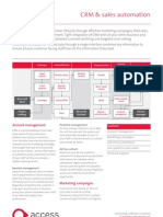 2009 The Access Group Crm Sales Automation Factsheet