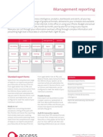 2009 The Access Group Management Reporting Factsheet