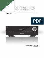 Harman Kardon AVR 171 Owners Manual