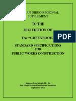 2012 San Diego Regional Supplement to Greenbook