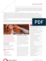 2009 The Access Group Construction Factsheet