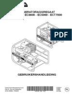Handleiding en Instructieboekje Honda ECT7000 Aggregaat - Nederlands