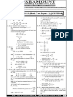 Ssc Mains (Maths) Mock Test-2 (Solution)