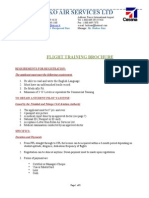 Flight Training Brochure