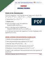 11 Maths Impq 08 Binomial Theorem Kvs