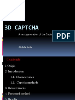 3D CAPTCHA 1