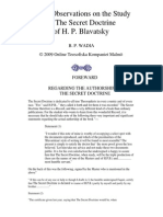 B.P. Wadia - Some Observations on the Study of the Secret Doctrine by Helena Blavatsky