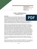 NAND vs NOR Flash Memory Technology