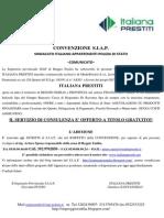 siap convenzione italiana prestiti