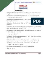 11 Maths Impq 10 Straight Lines Kvs