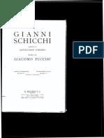 Puccini - GianniSchicchi Vocal score
