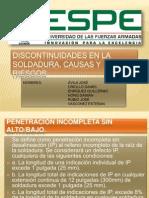 DISCONTINUIDADES EN LA SOLDADURA, CAUSAS Y RIESGOS.pptx