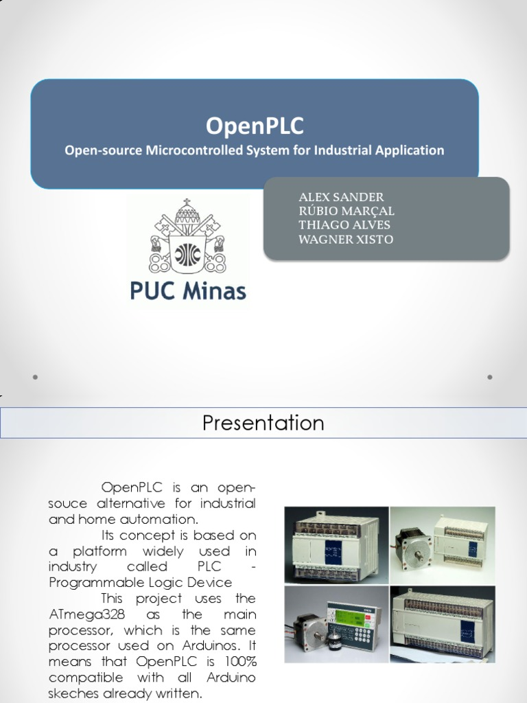 OpenPLC Presentation pdf | Input/Output | Electronic Circuits