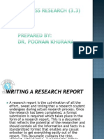 3.3 Writing a Research Report