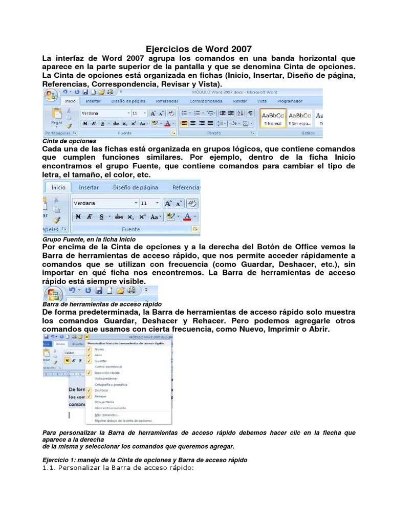 Asombroso Microsoft Word Retoma 2007 Ornamento - Ejemplo De ...