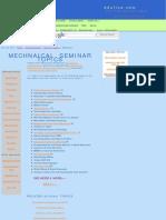 Mechanical Engineering Seminar Topics