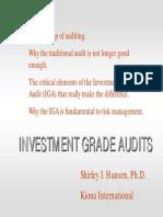 Investment Audit