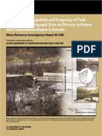 Estimating the Magnitude and Frequency of Peak Streamflows for Ungaged Sites on Streams in Alaska and Counterminous Basins in Canada