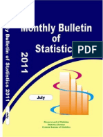 MONTHLY BULLETIN OF STATISTIC Pakistan