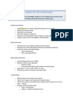 Basic Data Profiling