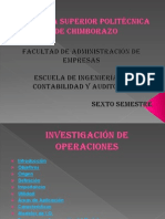 Investigación Operativa PRESENTACION PRIMERA PARTE.pptx