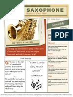 saxophonists cheat sheet - beginner
